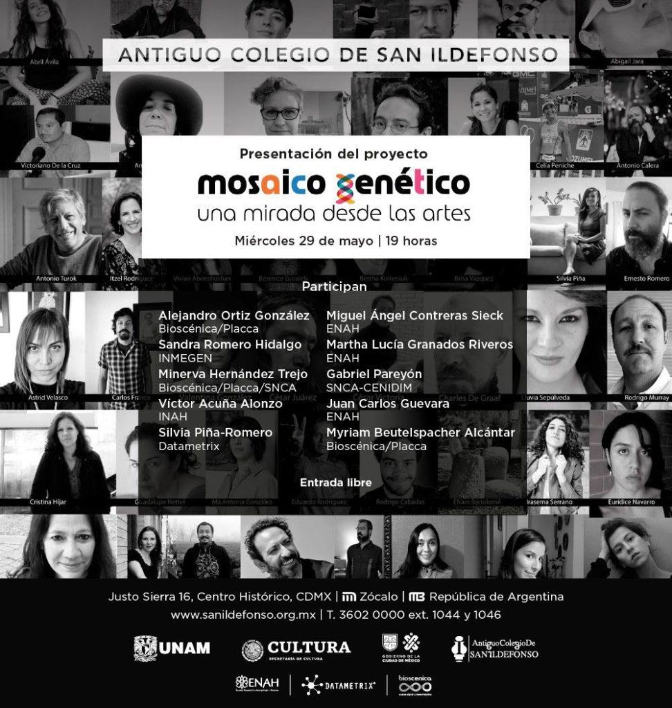 Presentación del proyecto Mosaico genético en México: una mirada desde las artes en el Antiguo Colegio de San Ildefonso
